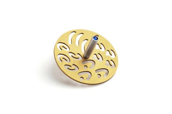 סביבון בעיצוב יחודי של אותיות אותיות זהב - עדי סידלר