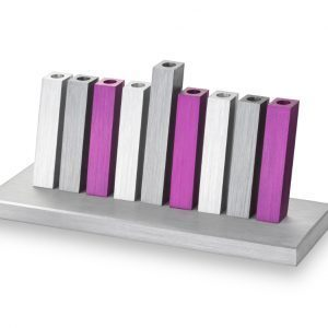 Kinetic Menorah – Purple/Silver/Grey