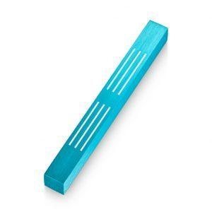 Turquoise Lines Mezuzah