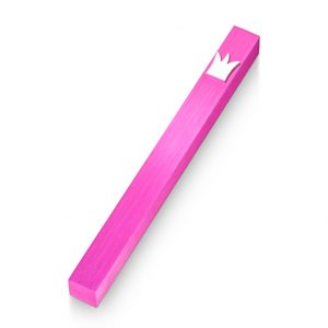 Pink Crown Mezuzah