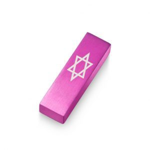 Car Mezuzah – Pink David's Shield