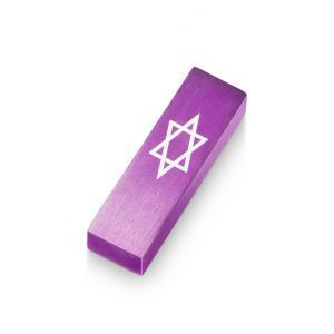 Car Mezuzah – Purple David's Shield