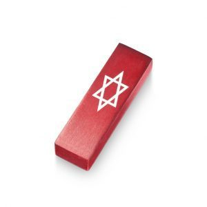 Car Mezuzah – Red David's Shield