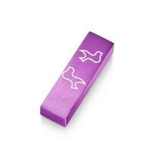 Car Mezuzah – Purple Dove