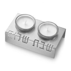 Shabbat Shalom Candleholders