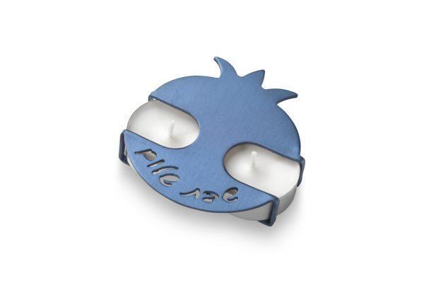 פמוטי רימון בצבע כחול בעיצוב של עדי סידלר מעצב יודאיקה