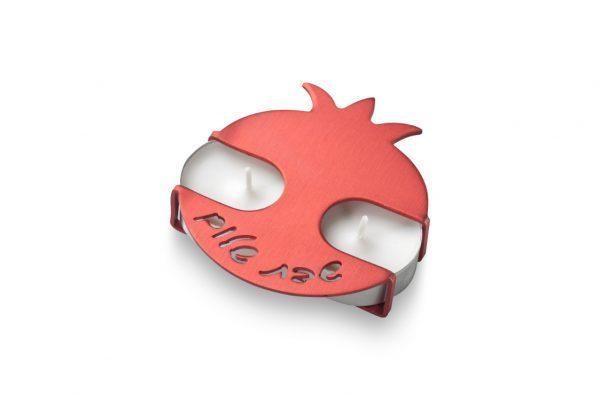 פמוטי רימון בצבע אדום בעיצוב של עדי סידלר מעצב יודאיקה