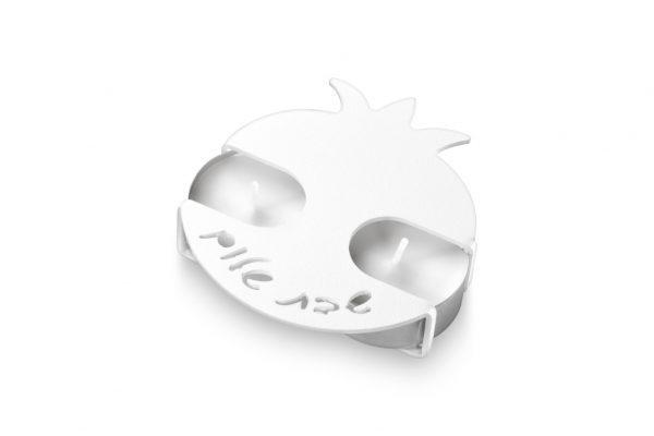 פמוטי רימון בצבע לבן בעיצוב של עדי סידלר מעצב יודאיקה
