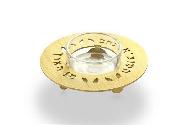 מעמד מלח לקידוש בשבת בצבע זהב- עדי סידלר מעצב יודאיקה
