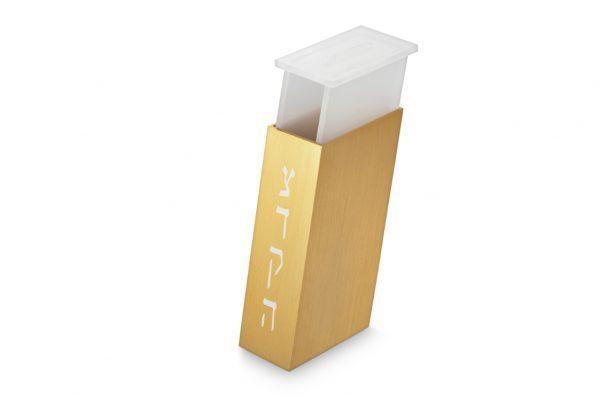 קופסת צדקה מלבנית בעיצוב חדשני - זהב